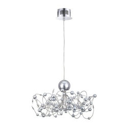 Eglo - Eglo 90156A 20 Light 1 Tier Chandelier Othello Collection - (Bulbs Incl - Eglo 90156A Othello 20 Light 1 Tier ChandelierAppearing as a piece of impressionist art, this chandelier from the Othello Collection features chaotic swirling chrome arms accented by spheres of chrome. This piece is sure to make a bold statement in any room Chrome Finish.Eglo 90156A Features: