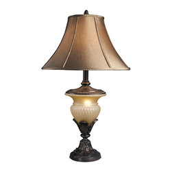 """Signature Design by Ashley - 34"""" Danielle Set of 2 Table Lamps Bronze & - A set of two: Bronze crackle table lamps with night lights"""