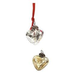 Go Home Ltd - Go Home Ltd Antique Gold Textured Heart Ornaments - Pack of 9 X-GA-59301 - Go Home Ltd Antique Gold Textured Heart Ornaments - Pack of 9 X-GA-59301