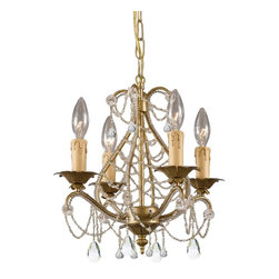 Crystorama - Crystorama Chandelier X-PWM-LC-LG-4174 - Abigail Collection offers casual yet elegant, whimsical and chic mini chandeliers and wall sconces.