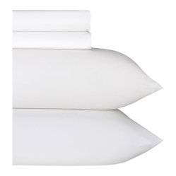 Sateen White King Sheet Set