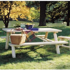 Traditional Outdoor Dining Tables by Rustic Natural Cedar Furniture Company