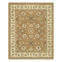 """Loloi Rugs - Hand Knotted Laurent Transitional Rug LRNTLE-03AOGV - 8'-6"""" x 11'-6"""" - Hand-knotted of 100% wool from India, the Laurent Collection features a series of soumak rugs that add a touch of casual elegance to traditional and transitional rooms alike. Available in a series of hand-dyed earthy colors, Laurent combines a well textured surface with updated traditional designs that reflect today's interior trends."""