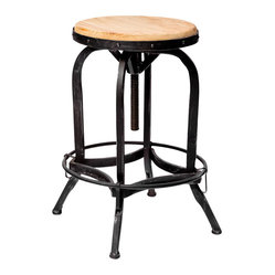 Dempsey Industrial Metal Design Swivel Bar Stool