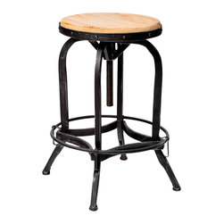 Great Deal Furniture - Dempsey Metal Swivel Bar Stool - Take it for a spin: This classic industrial swivel bar stool can go just about everywhere you need compact, steady seating. Raise it up to serve your bar, lower it for your counter. Of course, you can also park it near your craft or worktable as well.