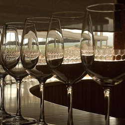 Magic Murals - Wine Glasses and Tasting Wallpaper Wall Mural - Self-Adhesive - Multiple Sizes - - Wine Glasses and Tasting Wall Mural