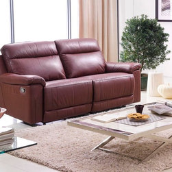 Isabella Italian Leather Reclining Sofa - Classic design meets upscale luxury in the Isabella Italian Leather Reclining Sofa. Featuring supple Italian leather upholstery, invitingly comfortable cushioned seating, and recliners in the sofa.