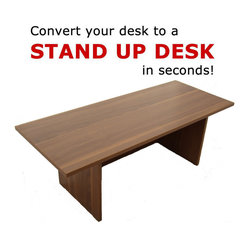 Home Concept - Speedy Stand Up Portable Desk - Walnut - The Original Exclusive Stand UP Desk from LampsUSA.com.Thisis the one that started it all for us and has helped so many peoplefeel and work better. Details: