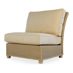 Lloyd Flanders Hamptons Collection Straight Armless Lounge Chair Sectional - Available in 29 Custom Finishes.