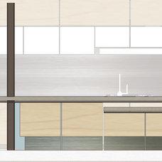 Contemporary Interior Elevation by PMK+designers