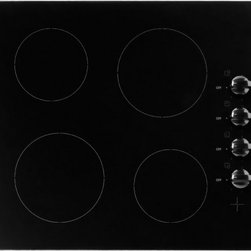 "Blomberg - CTE24400 24"" 4 Radiant Heaters Ceramic Glass Electric Cooktop  Knob Controls  Re - 24 4 Radiant Heaters Ceramic Glass Electric Cooktop Knob Controls Residual Heat Indication"