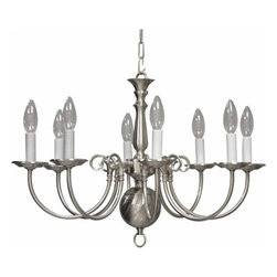 """Volume Lighting - Volume Lighting V3558 8 Light 16.75"""" Height 1 Tier Chandelier - Eight Light 16.75"""" Height 1 Tier ChandelierAdorn your home with this enchanting 8 light chandelier featuring 1 tier and several gorgeous finishes to choose from.Features:"""