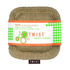 Twist - Twist Ravioli Scrubby - When it comes to getting pots and pans clean, go green! Made of hemp burlap casing and shaped like ravioli, this scrubber is really effective at loosening burnt-on messes, allowing you to reach into hard-to-clean corners. A sustainable choice, it's even gentle enough to use on your delicate crystal and china.