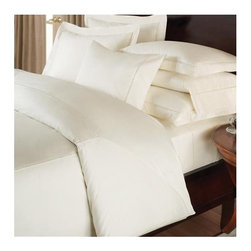 """Downright - Ambience Sheet Set - Features: -Twin Sheet Set includes fitted sheet, flat sheet and one pillow case. -Full, Queen and King Sheet Sets include fitted sheet, flat sheet and two pillow cases. -400 Thread count sateen. -Hemstitch. -Fabric is incredibly luxurious and soft. -Luxurious look for the bedroom suite. -Timeless design of detailed faggoting embroidery. -Stylish sophistication in elegant simplicity. Specifications: -Twin: 39"""" x 75"""". -Full: 54"""" x 75"""". -Queen: 60"""" x 80"""". -King: 78"""" x 80""""."""