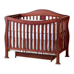 Da Vinci - DaVinci Parker 3 Piece Convertible Crib Nursery Set w/ Toddler Rails in Cherry - Da Vinci - Baby Crib Sets - K5101CK5152CK5155C3PcSet - DaVinci Parker 3 Piece Convertible Crib Nursery Set w/ Toddler Rails in Cherry