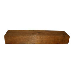 "Punky Hill - Punky Hill Floating Wooden Shelf with Rustic Toast Finish, 36""x6""x3"" - Punky Hill is now offering a gorgeous rustic toast finish.  This shelve is 36"" long, 6"" wide and an extra 3"" thick.  Featuring a warm sawmill texture that will make your favorite wall even more special.  Easy to install as a floating shelf with our invisible shelf brackets.  This shelf requires two four inch brackets."