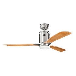"Kichler - Kichler 300145BSS Ridley 52"" Indoor Ceiling Fan 3 Blades - Remote, Light - Kichler 300145BSS Ridley Ceiling Fan"