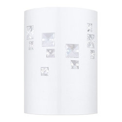 Eglo - Pigaro 1 Light Wall Sconce - Boasting a sleek white finish dressed with clear crystals.