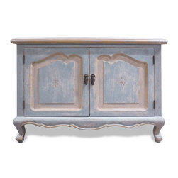 Unique Eclectic Pieces - Our alluring Tuscan furnishings have an exquisite twist of old world tones and accents. As time goes by and styles change, it is easy to witness the simplifying of ornate designs and the growing demand of simplistic elegance. The weathered down cream washed over with hints of grey and rubbed with gold leaf displays even the simplest case-good with luxury and elegance that is pleasantly relaxing. Contact us today for a custom quote!