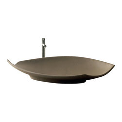 Scarabeo - Oval-Shaped White Ceramic Vessel Sink, No Hole - Contemporary design oval-shaped white ceramic vessel sink. Above counter bathroom sink without overflow. Made in Italy by Scarabeo.