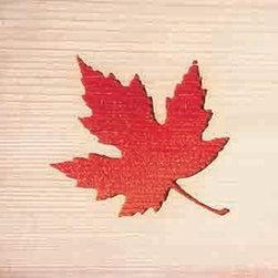 Door Mat:  Bamboo Sticks, Red Maple - Cedar Wood Door Mat - Red Maple