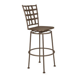 Bistro Casa Armless Swivel Bar Stool - Available in counter stool option