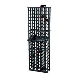 Wine Cellar Innovations - Traditional Series 100 Individual Bottle Rack w/display - The Redwood & Pine 5 Column Individual Bottle wine rack is 20 rows high and stores 100 wine bottles with 5 bottles on top. Assembly required.