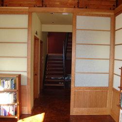 Portlandshojiscreen - Another view of Kathy and Pasha Stinson's beautiful 4' x10' Japanese style Shoji doors.