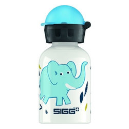 Sigg - Sigg Water Bottle, Elephant Family, 0.3 Liters, Case Of 6 - Why should adults have all the fun? With the SIGG Little Kids Bottle Collection, you can keep the kids hydrated and happy. There's a convenient size for every hydration need. Ideal for packing into your child's lunch box, this 0.3-liter SIGG Aluminum Water Bottle with kids bottle cap has a highly resistant lining, making it almost unbreakable! SIGG's EcoCare liner is made from BPA-free and phthalate-free ingredients.