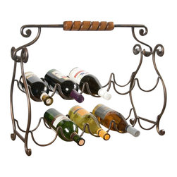 Butler Specialty - Butler Specialty Metalworks Wine Rack in Metal and Resin Finish - Butler Specialty - Wine Racks - 1921025 -This stunning wine rack has a metal finish and resin components. It holds 10 wine bottles so you can store your favorite selection at all times. Turn your house into a home with this gorgeous wine rack. Finished metal and resin components. Holds 10 wine bottles.