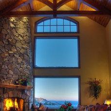 Rustic Living Room by Maraya Interior Design