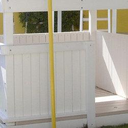 Swing Set Additions - 3/4 Bottom Enclosure w/ Floor - 3/4 Bottom Enclosure w/ Floor