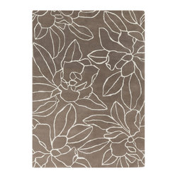 "Surya - Surya Sanderson SND-4516 (Stone, Winter White) 3'3"" x 5'3"" Rug - This Hand Tufted rug would make a great addition to any room in the house. The plush feel and durability of this rug will make it a must for your home. Free Shipping - Quick Delivery - Satisfaction Guaranteed"