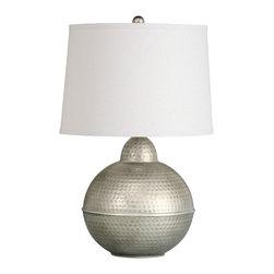 Kichler - Kichler Missoula One-Light Round Antique Pewter Finish Table Lamp - Kichler 70883AP Table Lamp 1Lt Portable