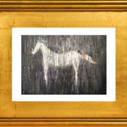 Horse Love, Fine Art Print - A beautiful limited edition fine art print comes signed, matted, and framed. Direct from the artist this piece features a stunning high quality hand made gold wood frame. The high quality print is produced by the artist in very limited numbers on professional archival paper. Less then 250 prints are made. Guaranteed to last, This is a piece you will love to own. Simply stunning, the photos do not do it justice. Total size of the frame is 12.5 x 10.5 x 1.5 inch deep. This is a great way to start or add to an existing collection!