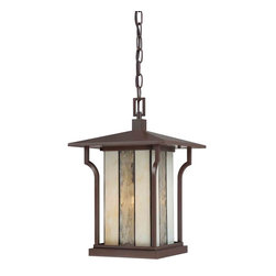Quoizel Lighting - Quoizel LNG1911CHB Langston Chocolate Bronze Outdoor Hanging Lantern - 1, 100W A19 Medium