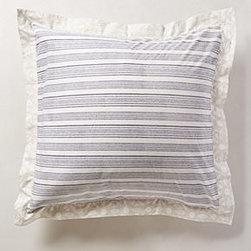 Anthropologie - Striped Mandala  Euro Sham - *Cotton