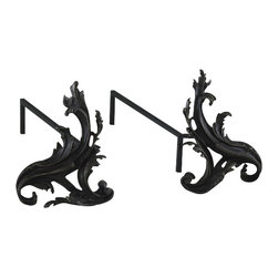Cyan Design - Floral Andirons - Old World - Floral andirons.