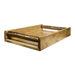 """Montana Woodworks - Montana Woodworks Serving Tray in Glacier Country - This serving tray is designed specifically to accompany the bar and deluxe bar also manufactured by Montana Woodworks but will work perfectly, well in any rustic entertaining situation! Carry drinks or delights to your friends and guests while being the perfect host. Finished in the """"Glacier Country"""" collection style for a truly unique, one-of-a-kind look reminiscent of the Grand Lodges of the Rockies, circa 1900. First we remove the outer bark while leaving the inner, cambium layer intact for texture and contrast. Then the finish is completed in an eight step, professional spraying process that applies stain and lacquer for a beautiful, long lasting finish. Comes fully assembled. 20-year limited warranty included at no additional charge."""