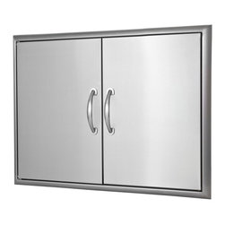 Blaze Outdoor Products - Blaze Stainless Steel 25-inch Double Access Door - The Blaze 25-inch double access doors feature an ideal access size for an island and an outdoor kitchen. Blaze's commercial grade 304 stainless steel construction is made for withstanding outdoor elements.