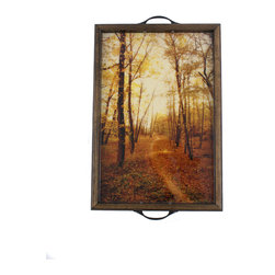 My Méz - Fall Sunset Tray/Wall Art - It's a tray; It's wall art. It's BOTH, and It's Made In the USA!