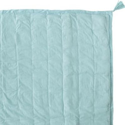 Serena & Lily - Tassel Quilt  Aqua - The perfect layer, made of whisper soft cotton voile one of our favorite fabrics. Why? Because it 's light and fluffy, like a cloud. Super fun tassels and the slightest puckering will make you (and your kids) love this all the more.