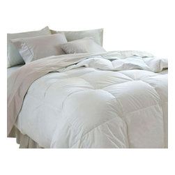 Pacific Pillows - Pacific Coast Grandia Down Comforter - Full/Queen - Pacific Coast Grandia Down ComforterIf you are looking for the largest comforter available in the market, you don't need to look any further with the Pacific Coast Grandia Down Comforter. Its size is what makes the difference from the other basic comforters around. This will definitely add more luxury to your bed, while it will also give you a pleasant sleep.Constructed with a Comfort Lock border to keep the down on top, guaranteeing you a comfortable sleep throughout the night. The cover is Made from 100% cotton fabric for a more durable softness. For better care, it is always advised to use a commercial cleaning company for washing this premium down comforter as it is quite large for normal home washing machine to fit in.With this amazing product you will wrap up snuggly, thanks to our luxurious and biggest down comforter, the Grandia Down Comforter.
