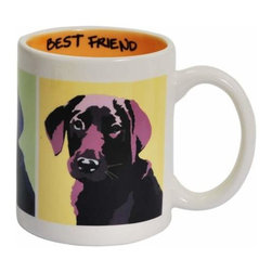 WL - 3.75 Inch Best Friend Black Lab Collectible Ceramic Coffee Mug - This gorgeous 3.75 Inch Best Friend Black Lab Collectible Ceramic Coffee Mug has the finest details and highest quality you will find anywhere! 3.75 Inch Best Friend Black Lab Collectible Ceramic Coffee Mug is truly remarkable.