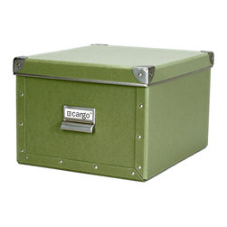 Cargo - Cargo Naturals Shelf Box - Banish your clutter with this spacious, handsome box. Made from sturdy ecofriendly fiberboard, attractively trimmed and easy to label and stack, it makes getting organized look easy — and stylish.