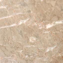 """Crema Luna Polished Marble Floor or Wall Tiles - Lot of 20 Tiles - 12"""" x 12"""" Crema Luna Polished Marble Tiles for Bathroom Floor, Kitchen Floors, and Living Room Floor."""