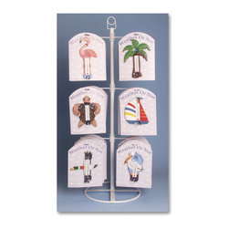 Songbird Essentials - Tabletop Display for Small Window Thermometers or Single Wallhooks (holds 12 sty - Display and promote Songbird Essentials' SMALL window thermometers and single wallhooks with this table-top display. Designed to hold 12 different styles of our carded product, the unit includes a plexiglass topper to demonstrate the use and finish of Son