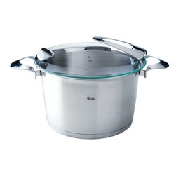 """Fissler - Solea High Stew Pot, 6.5L"""" - """"Visionary. Individual. Sophisticated. This is the Solea premium cookware line. With its compelling functional features, design, and high quality """"""""Made in Germany"""""""" standard, it is an absolute must for sophisticated cooks with a sense of aesthetics and design. Loaded with many ingenious functions and numerous design awards, Solea provides unique cooking convenience. All Solea items are dishwasher-safe and oven-proof."""