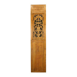 EuroLux Home - Consigned Antique Chinese Door Carved Flowers Birds - Product Details