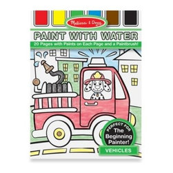 "Melissa And Doug - Melissa & Doug My First Paint with Water in Vehicles - All the creative painting fun without the mess, this kid's paint set is especially made for beginning artists. Set features 24 brush-and-blend pages with various scenes that will let little ones enjoy the feel of ""painting"" for the first time."